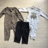 Carter's набор человечков на 9 месяцев и штанишки