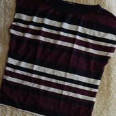 элегантная футболка из комбинированных материалов от Tom&Rose