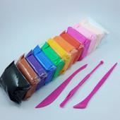 Воздушный пластилин 12 цветов + набор инструментов