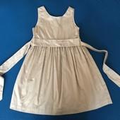 Платье цвет золото 132см 9 лет