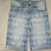 Шорты джинсовые 11лет замеры на фото