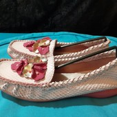 Полностью кожаные туфли-мокасины Naturino, разм. 36 (23 см внутри). Сост. отличное!