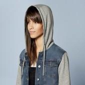 ❤️ Esmara Германия❤️модная стильная джинсовая куртка с капюшоном евро 40
