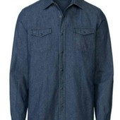 livergy.классная джинсовая рубашка размер М39/40замеры.