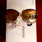 Солнцезащитные очки в перламутровой оправе, UV 400, дужка с 3Д эффектом