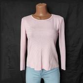 Нежно-розовый свитер/кофта из плотненького трикотажа,s/m
