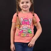 Стильная детская футболка, Турция. 3.4.5.6 лет