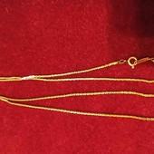 Цепочка из жёлтого золота 18kgp, состояние новой