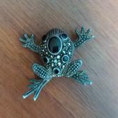 Брошка Лягушка , полностью серебро 925