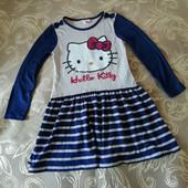Платье трикотажное TU Hello Kitty р. 116 на 6 лет