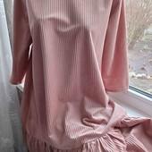 Сукня трапеція 50-54 з воланами, тканина рубчик, Boohoo