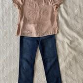 Джинсы брюки штаны скины skinny леопардовые зауженные S M 42-44