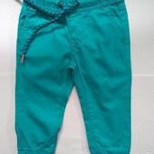 Бавовняні штанці на резинці німецького бренду Іmpidimpi на ріст 74-80см