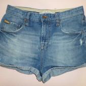 джинсовые шорты Zara с высокой посадкой 38 евр