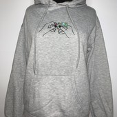 Крутая Толстовка-пуловер с начесом свободного кроя Boyfriend fit,фирма Bluenotes Рекомендую лично!