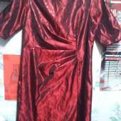 Нарядное платье цвета бордо с чёрным переливом на 50-52(укр.)