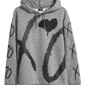 Толстовка с начесом,известный шведский бренд H&M размер М,Оригинал!Рекомендуем!)