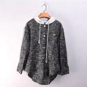Бомба!Стильная рубашка с капюшоном,ткань твид,плотная. тренд 2021 Рекомендуем!