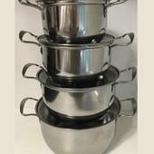 Набор кастрюль с крышками из 4 штук,(16,18,20,22 см) нержавейка Grandhoff GR-3558