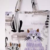 Коты! Сумка шоппер Стильная, оригинальная прочная и вместительная!