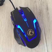 ✅ Мышь проводная Apedra A9 игровая с подсветкой Black в подарочной упаковке