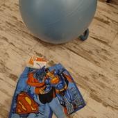 Яркие красивые купальные шорты Супермен.6лет