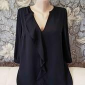 Лёгкая шифоновая блуза с V-образным вырезом, Oasis, p. M