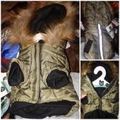 Теплая новая куртка на собачку!! фирменная с этикетками