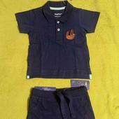 Футболка +шорты lupilu для мальчика 74/80
