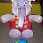 Интерактивный большой слон (управление мышкой)