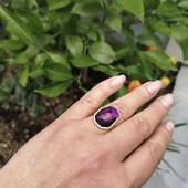 Винтажное большое женское кольцо. Размер 18-19