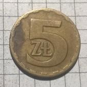 Монета Польши 5 злотых 1977