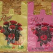 Пакеты Розы, Лилия, 30*50см, лот - 50шт, цвет на выбор