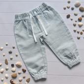 Льняные штанишки для девочки на 9-12 мес lupilu