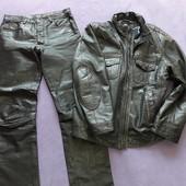 Костюм мотоциклисту штаны куртка кожа натуральная
