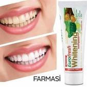 Отбеливающая зубная паста EuroFresh Whitening от Farmasi ! 112 гр ! Большой объем