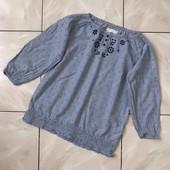 Стоп,стильная вышиванка под джинсы❤ Фирменная блуза,Коттон,цвет,, варёный джинс,,9/11л❤ Много лотов!