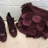 Замшевая сумочка + туфельки 38 размера