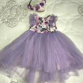 Шыкарное платье на девочку 86 рост zironka на 1 годик