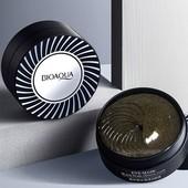 Оригинал!Гидрогелевые патчи под глаза с жемчугом Bioaqua Black Pearl Crystal