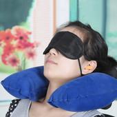 Надувная дорожная подушка под шею