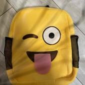 Рюкзак детский желтый плюшевый