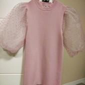 Блуза Розовая в рубчик