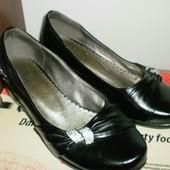 Туфли балетки,черные 36 размер - 23 cm.