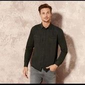 Отличная мужская джинсовая рубашка Livergy Германия размер S (37/38)