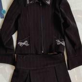Костюм пиджак и юбка р.116-122