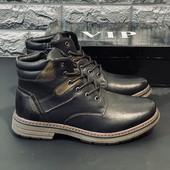 Зимние мужские ботинки на меху / Размер 40 полная стелька 27 см Последняя пара