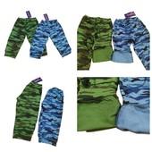 Новинка! Камуфляжные бриджи для мальчишек. Узбекистан! 100 % хлопок. Размер 5-6 лет, 7-8 лет