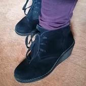 Ботинки натуральный замш р 35-36
