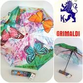 Яркий , качественный зонтик , полуавтомат, 8 карбоновых спиц от Grimaldi